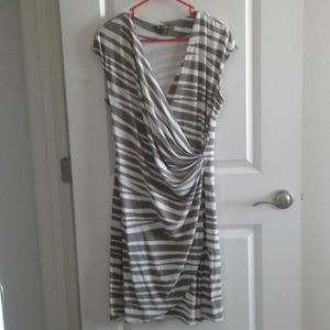 Tommy Bahama draped dress striped
